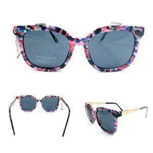 J Crew Sunglasses Modern Edge Black Pink Bold